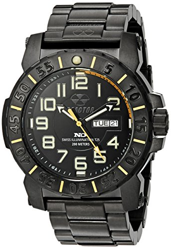REACTOR Herren 50507 Trident 2 analoge Display Quartz Black Watch