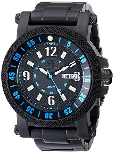 REACTOR Herren 56518 Fallout 2 matt schwarz und blau analoge Uhr