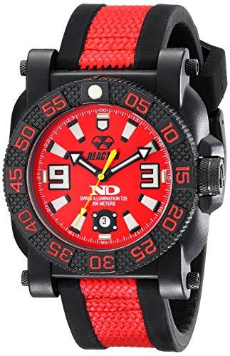 REACTOR Herren 73811 Gryphon Robust nitromid Polymer leicht Uhr Rot