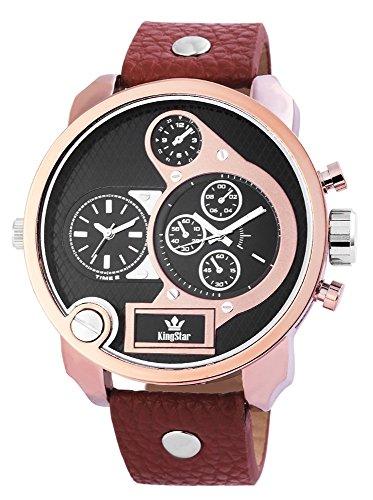 Uhr Bicolor Kunstlederarmband 24cm Braun Dornschliesse 251851000004