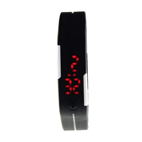 HandLifeTMUltra Thin Men Maedchen Sports Silikon-Digital-LED Sport-Armbanduhr