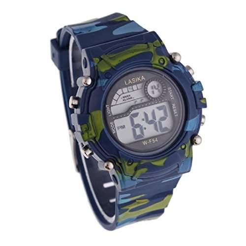HandLifeTMJungen-Camouflage Schwimmen Sport Digital-Armbanduhr Wasserdicht