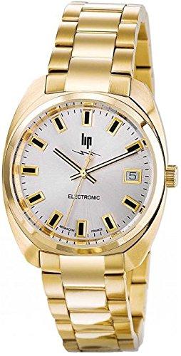 Lip GDG Electronic Metal Gold 671028 Unisex Quarz Analog Armband Stahl