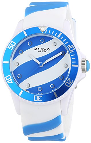 MADISON NEW YORK Unisex Armbanduhr Candy Time Lollipop Analog Quarz Silikon U4620 06