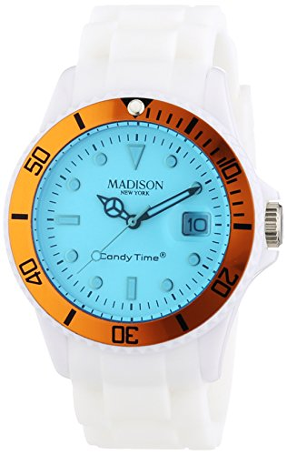 MADISON NEW YORK Unisex Armbanduhr Candy Time Snow Festival Analog Quarz Silikon U4612 04 1