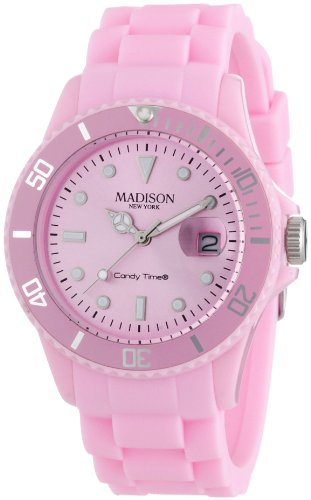 Pastell Rosa Madison New York Candy Time Unisex Armbanduhr