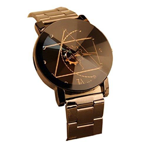 Tonsee Kompassnadel Stainless Steel Man Quarz analoge Armbanduhr schwarz