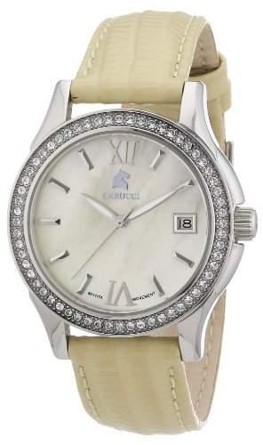 Carucci Watches Damen-Armbanduhr Analog Automatik Leder CA2188YL