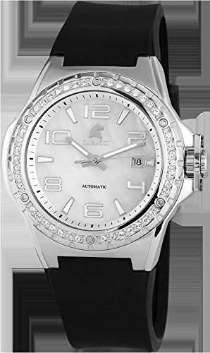 Carucci Watches Damen-Armbanduhr XL Analog Automatik Kautschuk CA2213SL
