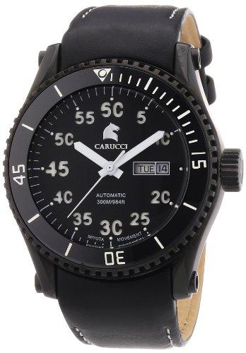 Carucci Watches Herren Armbanduhr XL Analog Automatik Edelstahl CA2196BK WH