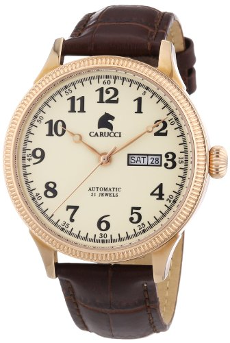 Carucci Watches XL Analog Automatik Edelstahl CA2209RG