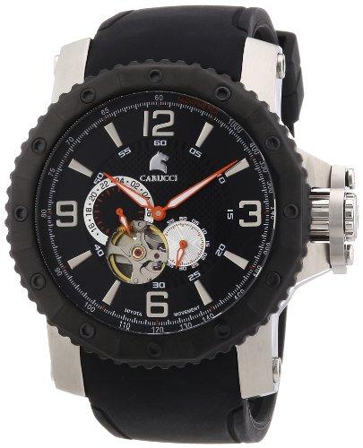 Carucci Watches Herren Armbanduhr XL Turin Analog Automatik Kautschuk CA2198SL