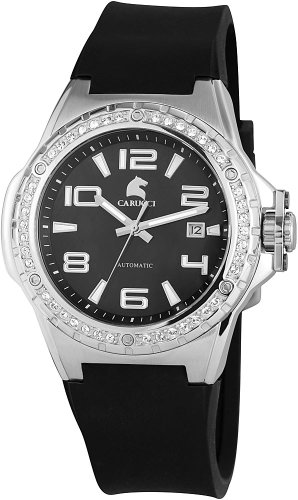 Carucci Watches XL Analog Automatik Kautschuk CA2213BK