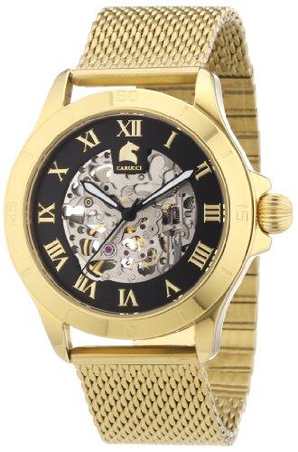 Carucci Watches Herren Armbanduhr XL Analog Automatik Edelstahl CA2179ST GD