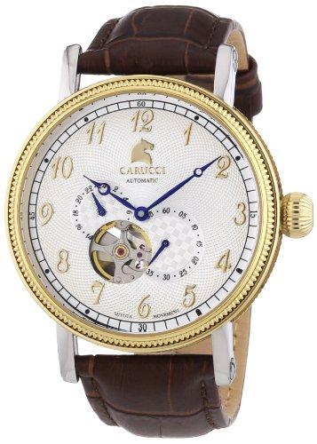 Carucci Watches XL Analog Automatik Leder CA2201GD WH