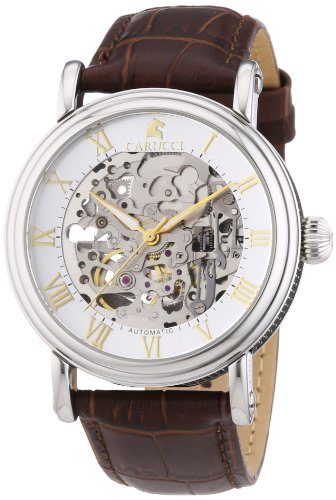 Carucci Watches XL Analog Automatik Leder CA2203BR