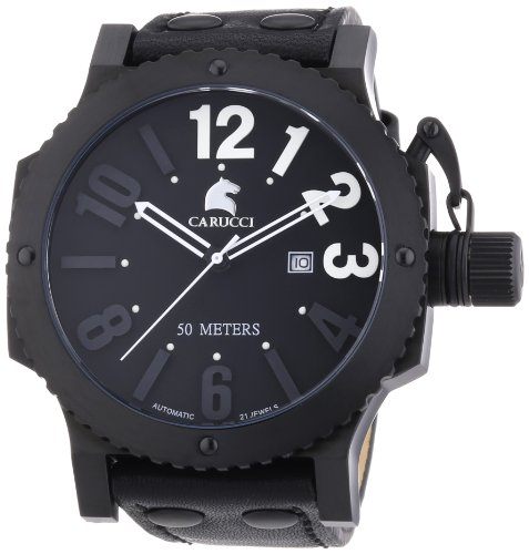 Carucci Watches XL Analog Automatik Leder CA2211BK WH