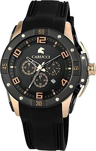 Carucci Watches XL Analog Quarz Kautschuk CA2214BK RG