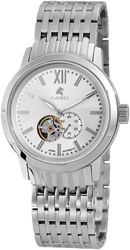 Carucci Watches XL Analog Automatik Edelstahl CA2193SL