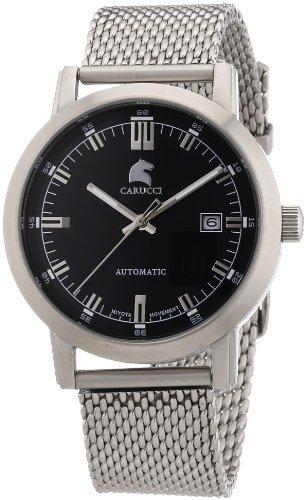 Carucci Watches XL Analog Automatik Edelstahl CA2195ST BK