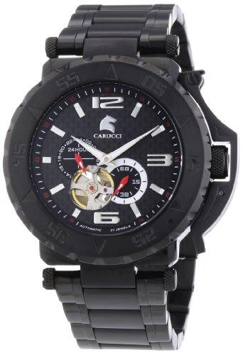 Carucci Watches XL Analog Automatik Edelstahl CA2199BK BK