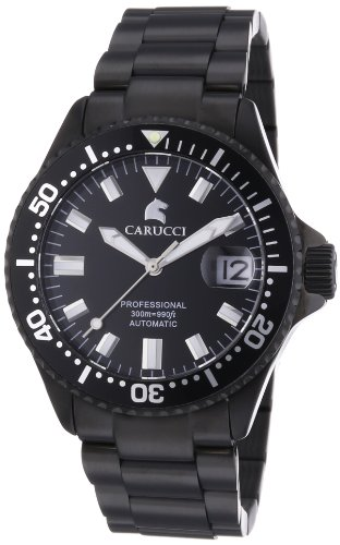Carucci Watches XL Analog Automatik Edelstahl CA2200BK BK
