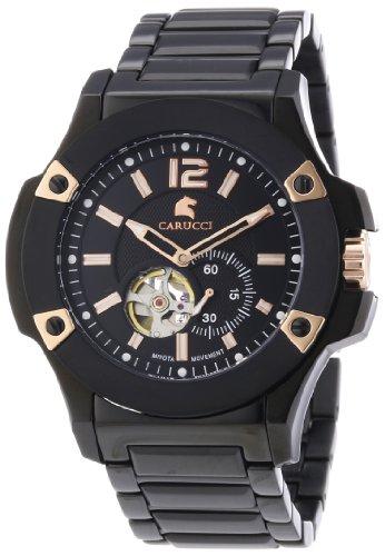 Carucci Watches XL Analog Automatik Edelstahl CA2208BK BK