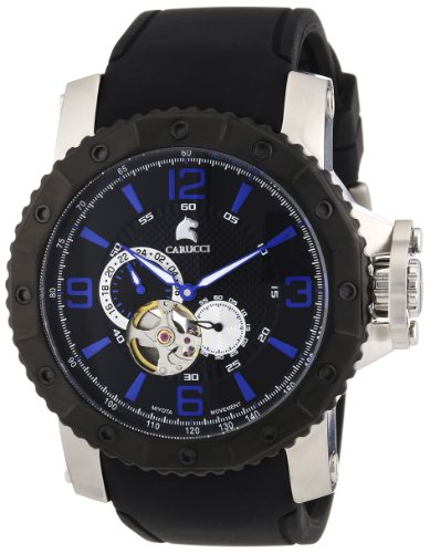 Carucci Watches XL Analog Automatik Kautschuk CA2198BK