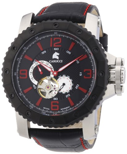 Carucci Watches XL Analog Automatik Kautschuk CA2198LB RD
