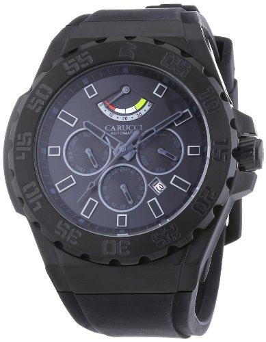 Carucci Watches XL Analog Automatik Kautschuk CA2204BK BK