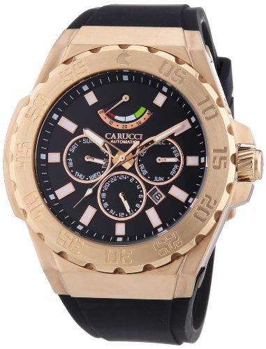 Carucci Watches XL Analog Automatik Kautschuk CA2204RG BK