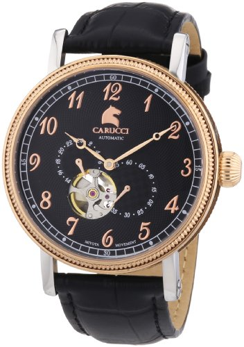 Carucci Watches XL Analog Automatik Leder CA2201RG BK