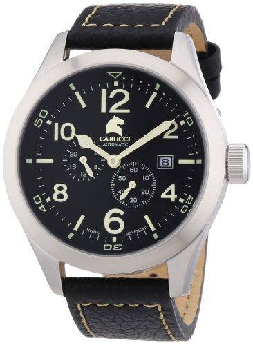 Carucci Watches XL Analog Automatik Leder CA2202BK