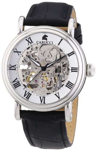 Carucci Watches XL Analog Automatik Leder CA2203BK
