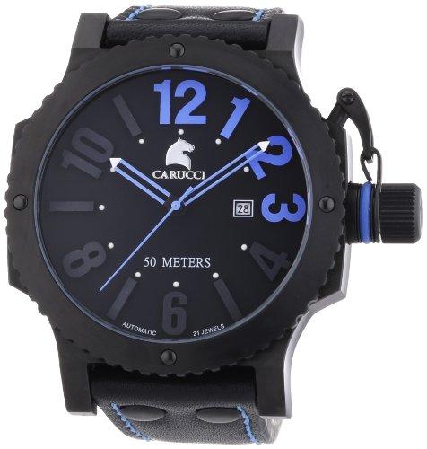 Carucci Watches XL Analog Automatik Leder CA2211BL BK
