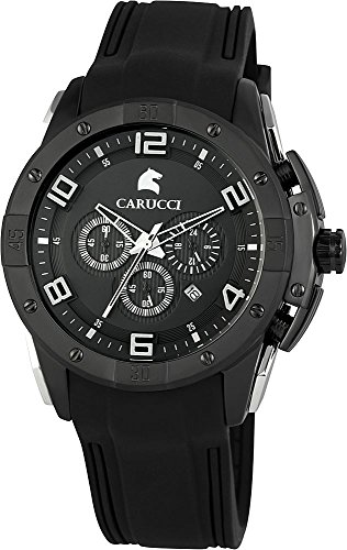 Carucci Watches XL Analog Quarz Kautschuk CA2214BK