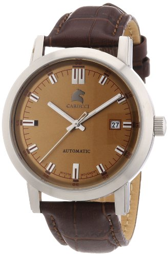 Carucci Watches XL Messina Analog Automatik Leder CA2195BR