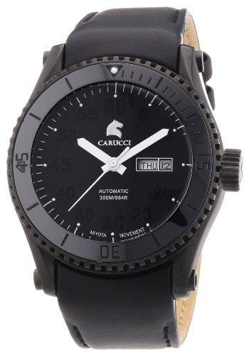 Carucci Watches XL Tarent Analog Automatik Leder CA2196BK BK