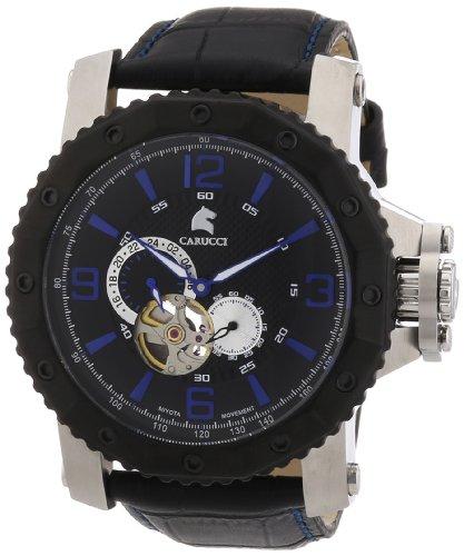 Carucci Watches XL Turin Analog Automatik Leder CA2198LB BK