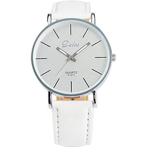 XLORDX Fashion Trendy Quarzuhr Armbanduhr Herrenuhr Damenuhr Jungen Uhr XMAS Geschenk Weiss