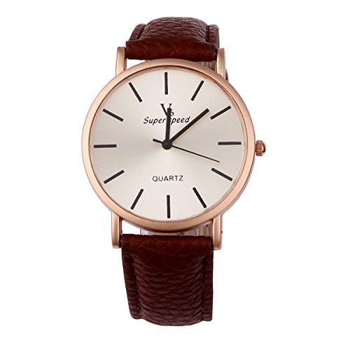 XLORDX Fashion Trendy Quarzuhr Armbanduhr Jungen Uhr Sportuhr Braun