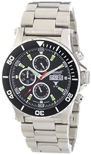 Ingersoll Herren-Armbanduhr XL Chronograph Automatik Edelstahl IN1511BKMB