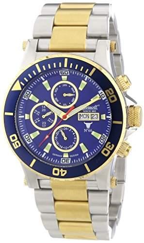 Ingersoll Herren-Armbanduhr XL Chronograph Automatik Edelstahl beschichtet IN1511BLMB