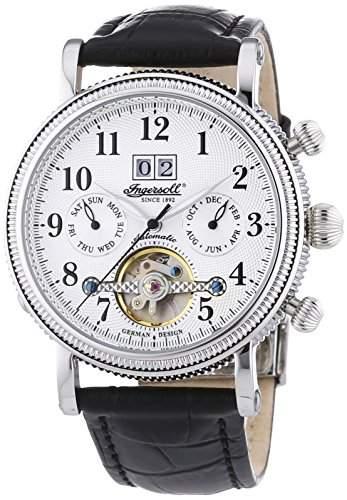Ingersoll Herren-Armbanduhr XL Tecumseh Chronograph Automatik Leder IN1825SL
