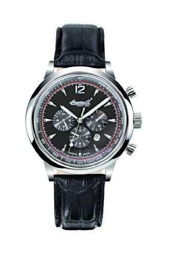 Ingersoll Herren-Armbanduhr Analog Leder schwarz IN2809BK