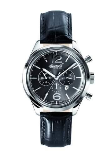 Ingersoll Herren-Armbanduhr Analog automatik leder schwarz IN2817BK