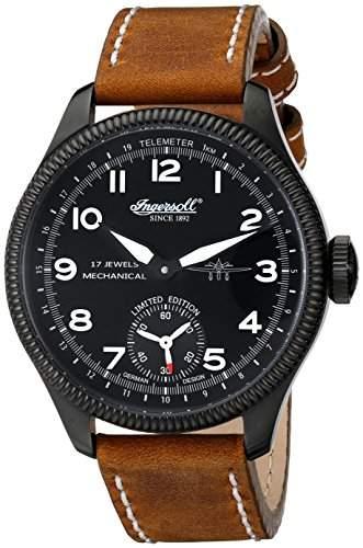 Ingersoll Herren-Armbanduhr Chinook Analog Automatik Leder IN3105BBKW