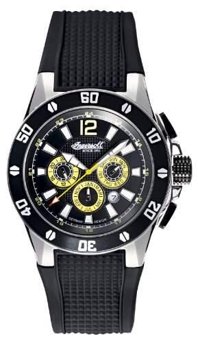 Ingersoll Brazos Automatik Herren Uhr Schwarz Gelb IN3221BK