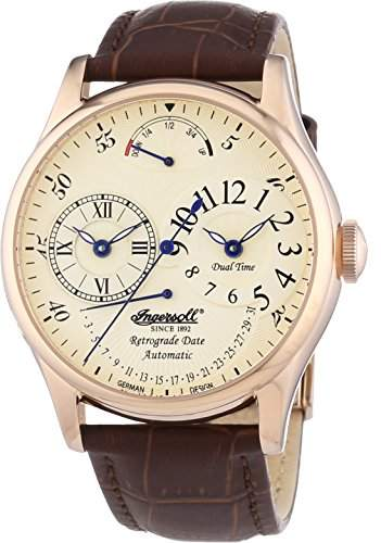 Ingersoll Herren-Armbanduhr XL Ragtime Analog Automatik Leder IN3608RCR