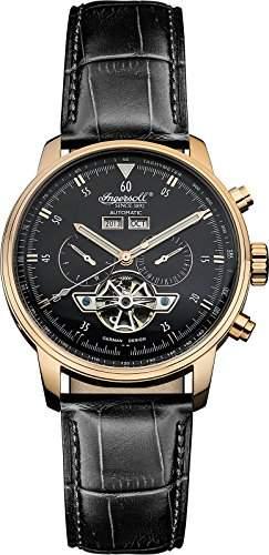 Ingersoll Herren-Armbanduhr Analog Automatik Leder Schwarz IN4511RBK
